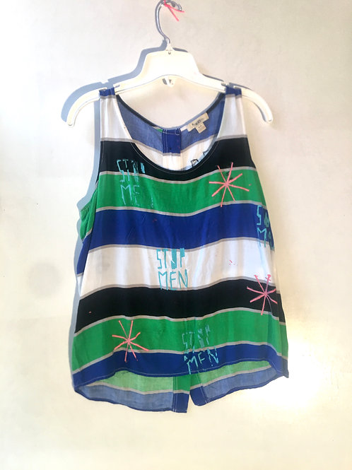 Worn loose stripped tank top XXI brand small 17 inches chest Length 24in