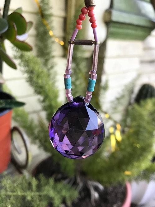 rainbow maker// purple crystal