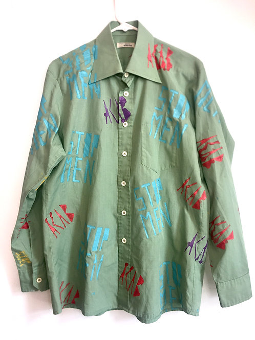 70s button up shoulder 17 inches chest 17 inches length 30 inches