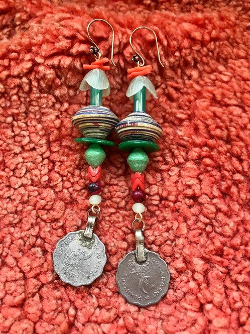 lucky plant earrings