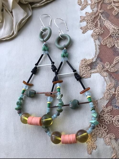 Ocean mother earrings