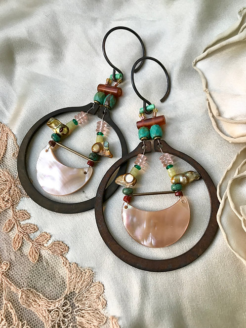 mother of the moon gauged earrings