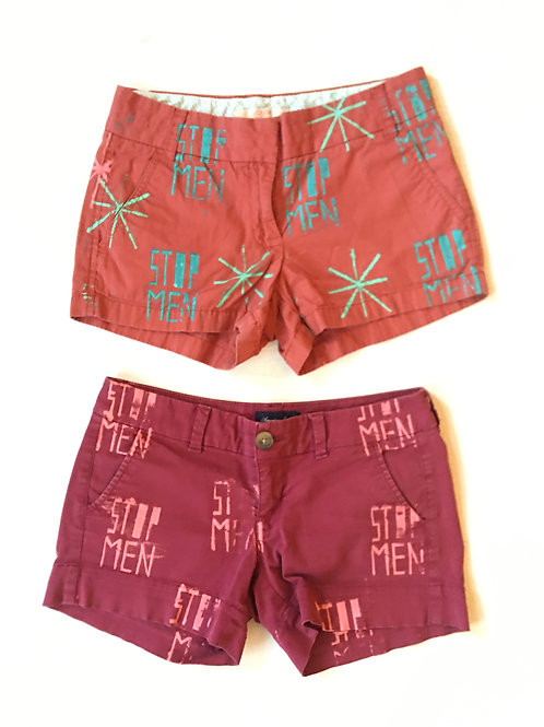 LOOK: Short Shorts Set Red Clay and Burnt Orange XS