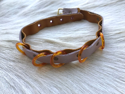 Lilac and amber collar