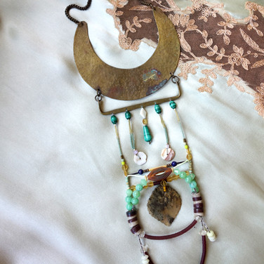 crecent power necklace