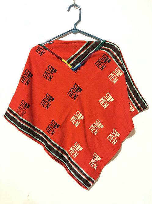 Red Stripe Poncho S