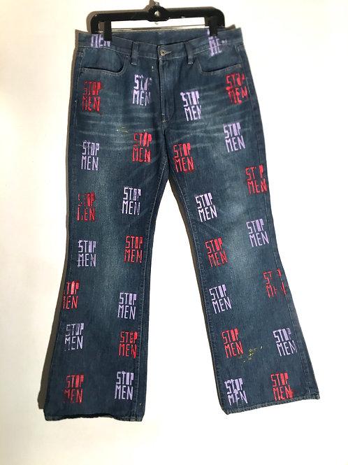 Diesel jeans 17 inch waist 21 1/2 inch hips 12in cuffs 38 in Length