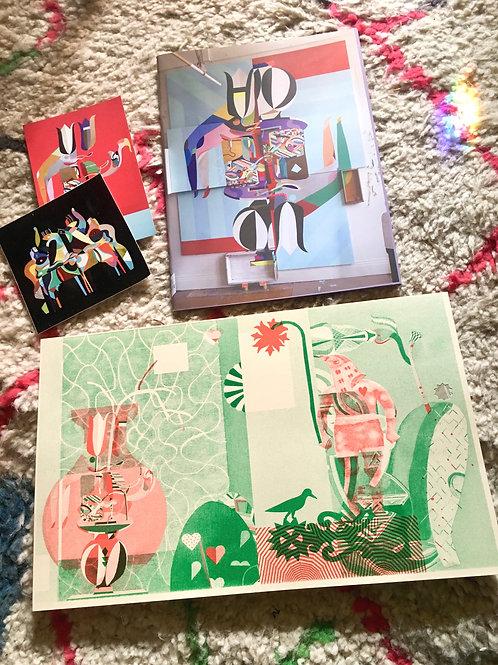 MCXT book + sticker + sing song print// green