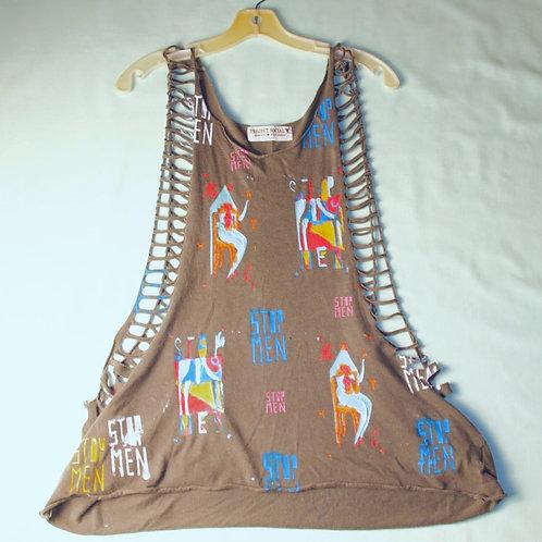 shoulders 12in Chest 12in Waist 22in Cut tshirt tank