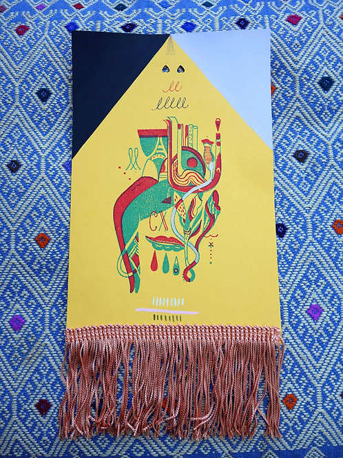luv letter print // goldenrod