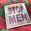 Thumbnail: STOP MEN 8 silver sticker set // 2 sets of 4