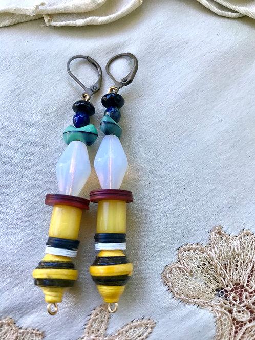 Baby bee earrings