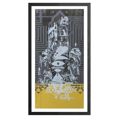 HOME SICK print - Gold edition