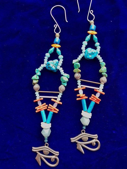 Eye of Ra temple earrings