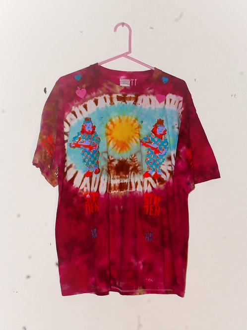 for real crazy clown print shirt  22inch shoulder  26inch length
