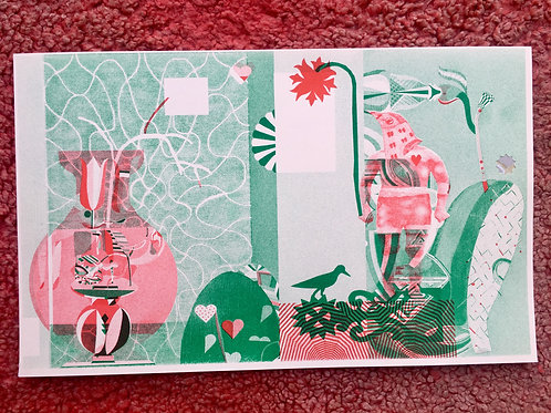 Sing songs riso print /// green