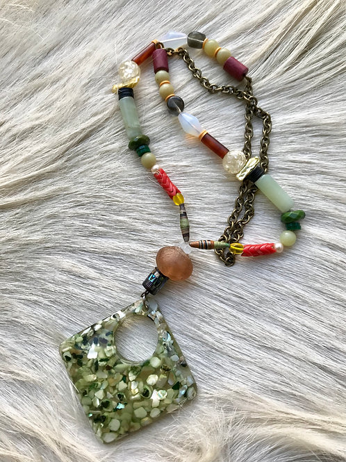 Shell flake necklace