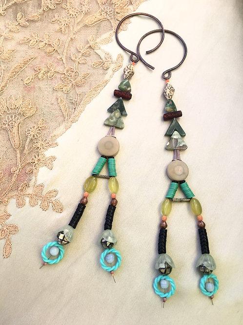 twin trees earrings