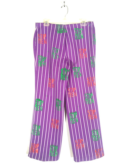 Vintage Purple Striped Pants M