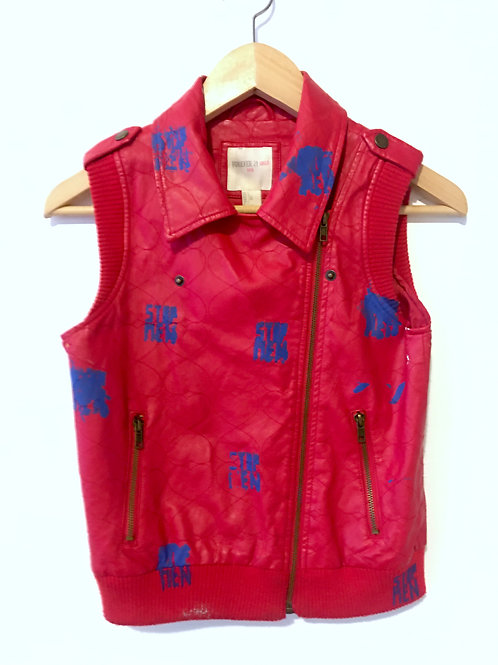 Red Faux Leather Child's Size Vest
