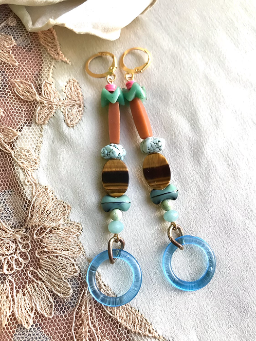 Baby tigers eye earrings