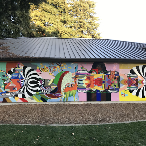 Civic Park Walnut Creek Community Center Mural