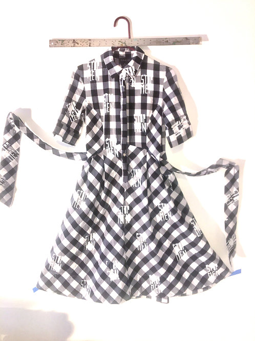 Blk & White Plaid Dress