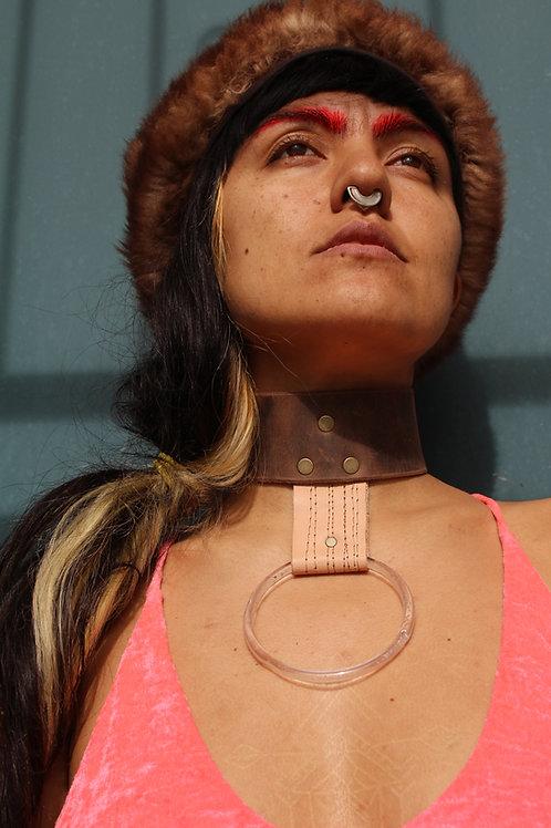 lucite ring collar