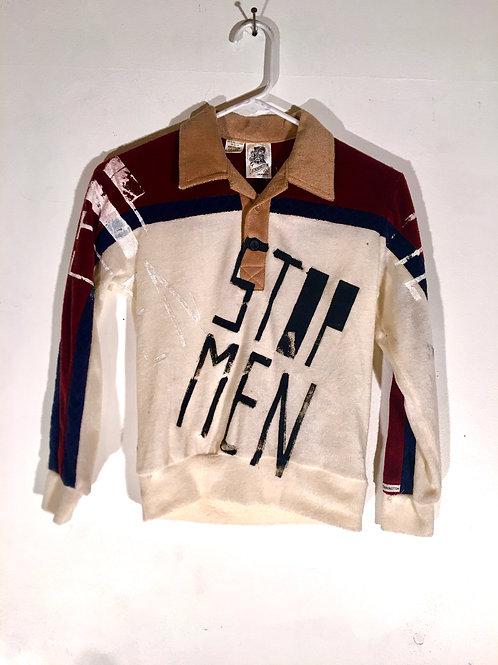 Vintage Long Sleeve Bowling Terry Cloth Shirt XS