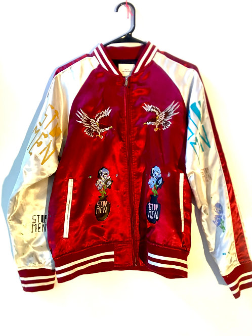 Shoulders 16 1/2 length 26 waist 16 1/2 arms 23 Japan jacket