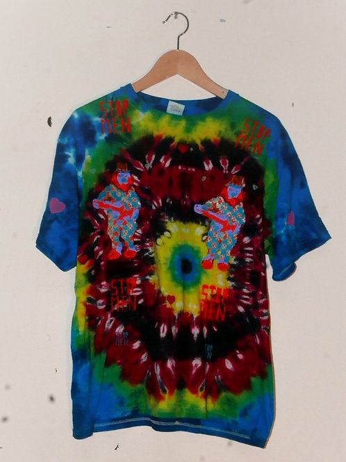 for real crazy clown print shirt  21inch shoulder  27inch length