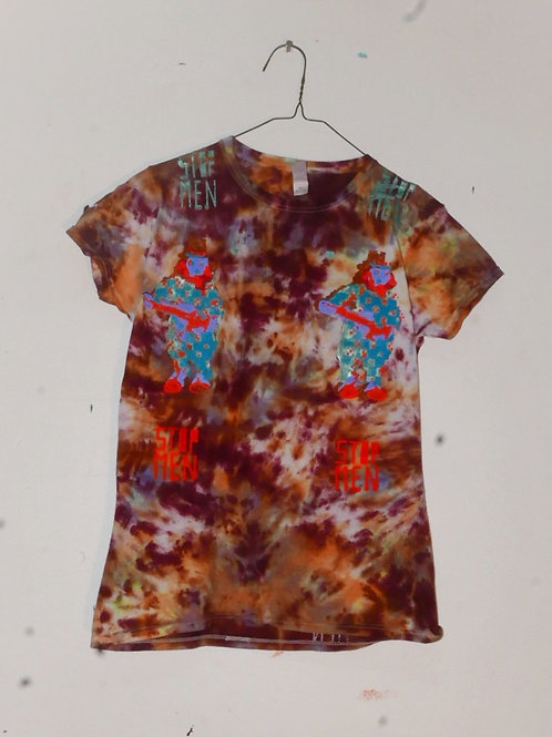 for real crazy clown print shoulders 15 length 24.5