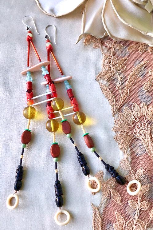 Fruit and honey earrings
