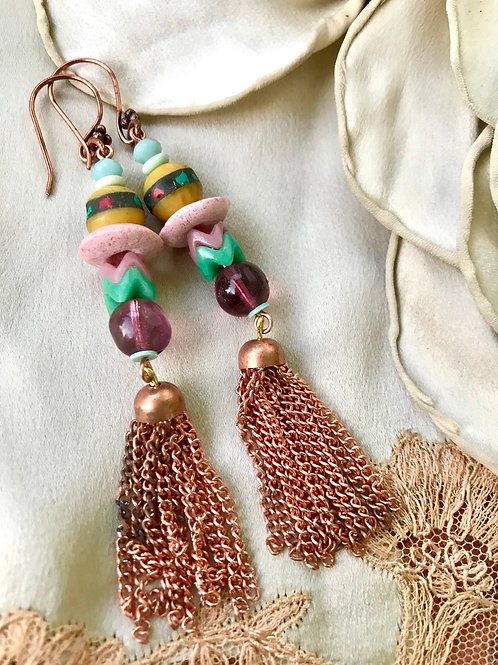 dusky desert earrings