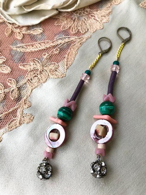 Fox glove earrings