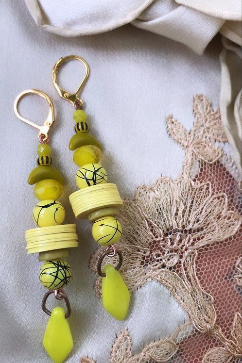 Banana baby earrings