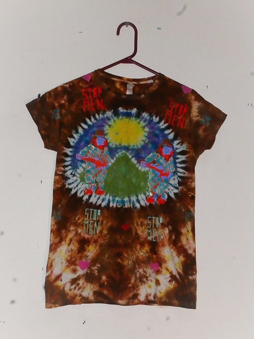 for real crazy clown print shoulders 16 length 27