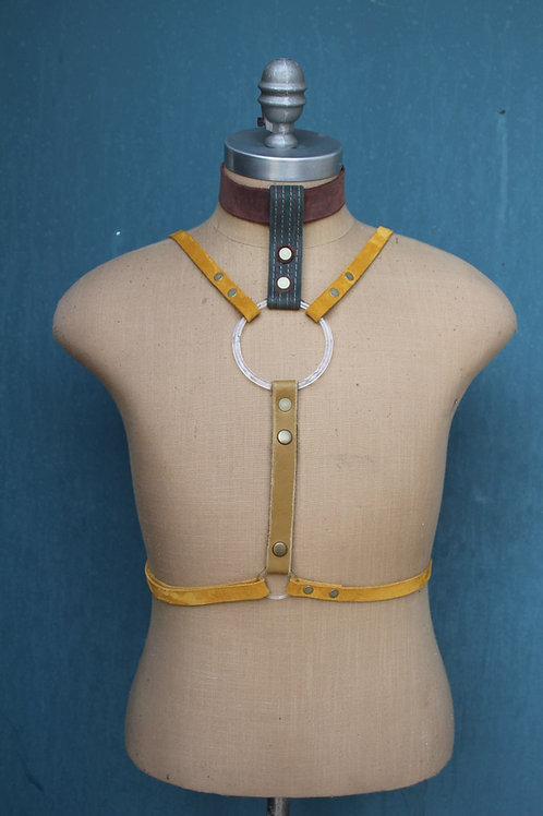 turkey paw harness// Ocher + navy