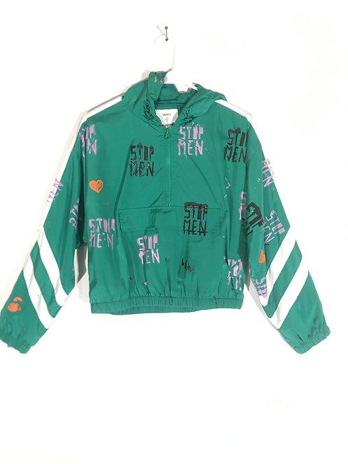 Green Athletic Hoodie Jacket S