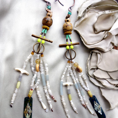 shell raining earrings