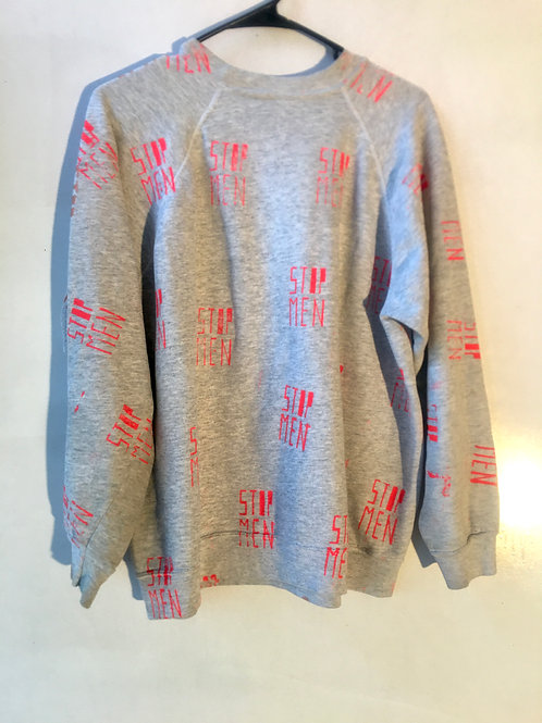 Shoulder 18 1/2 length 26 1/2 chest 22 70s gray sweatshirt