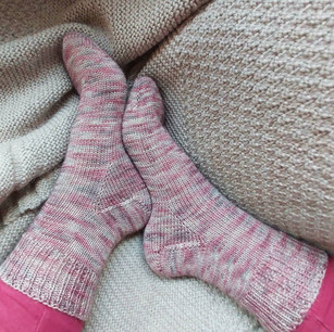 Toe Up Vanilla Socks