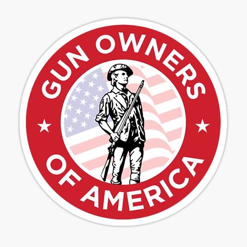 """Gun Owners Of America"" Sticker"