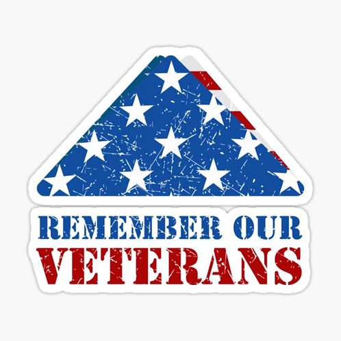 """Remember Our Veterans"" Sticker"