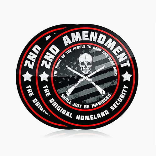 2nd Amendment Vinyl Stickers (2 Pack)