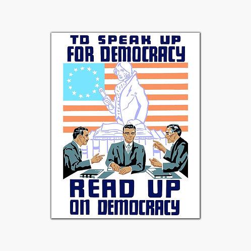 Democracy Vintage Poster