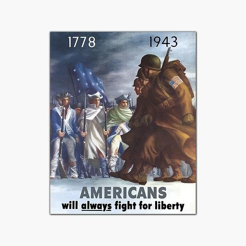 Liberty Vintage Poster