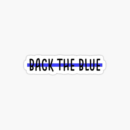 """Back The Blue"" Sticker"