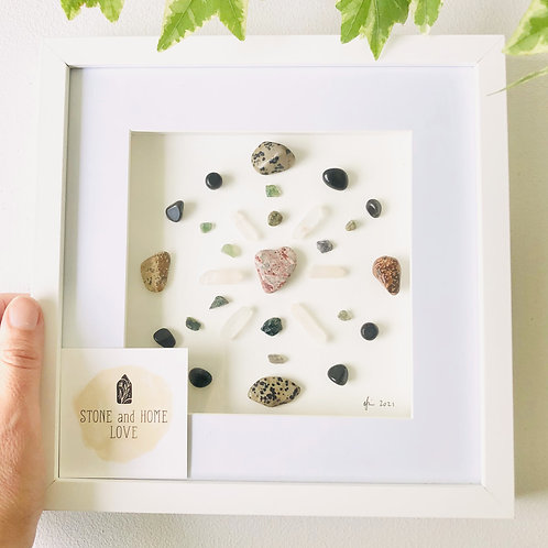Protect your energy. Small Frame Crystal Grid