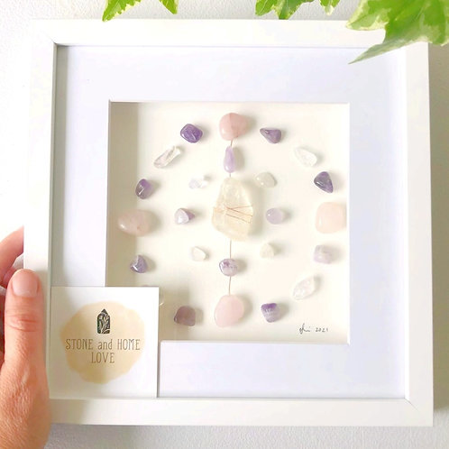Mother's Love Small Frame Crystal Grid